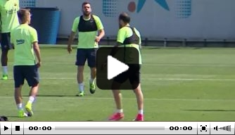 Video: laatste trainingssessie voor Cillessen en Barcelona