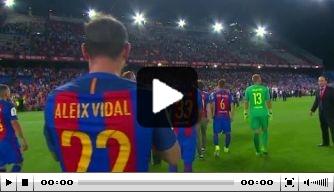 Video: FC Barcelona viert eindzege in Copa del Rey