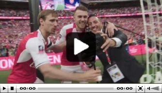 Video: het Arsenal-feest op het veld na winst van FA Cup