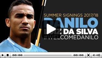 """Video: Danilo gepresenteerd bij City: """"Wil hier CL winnen"""""""