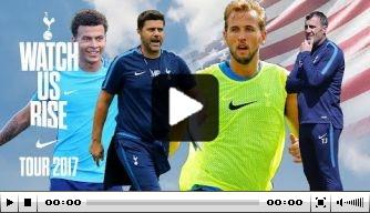Video: Kane en Alli strijden tegen Pochettino en assistent