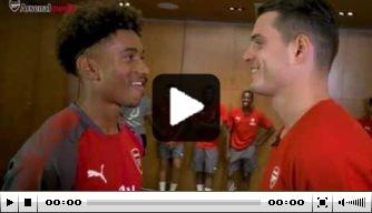 Video: Xhaka en Nelson spelen potje tafeltennis