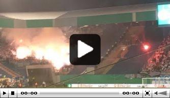 Video: vuurzee bij bekerduel tussen Hansa en Hertha