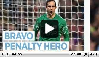 Video: Bravo reageert op gestopte strafschoppen