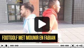 Video: NAC-spelers strijden tegen elkaar in potje footgolf