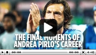 Video: de laatste uren van Pirlo als profvoetballer