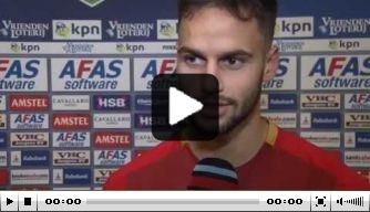 Video: AZ-speler Hatzidiakos baalt van verlies tegen Ajax