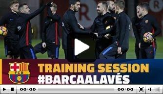 Video: FC Barcelona werkt toe naar duel met Alavés