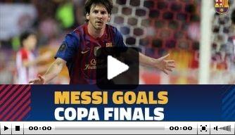 Video: alle doelpunten van Messi in de Spaanse bekerfinale