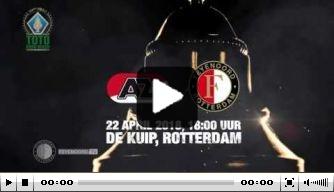 """Feyenoord zet toon voor finale: """"Vandaag gaan wij voor goud"""""""