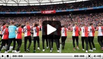 Video: reportage van de bekerhuldiging van Feyenoord