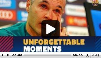 Video: de emotionele persconferentie van Iniesta
