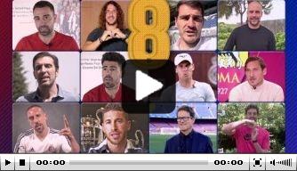 Video: eerbetoon met Van Gaal, Koeman, Rijkaard aan Iniesta