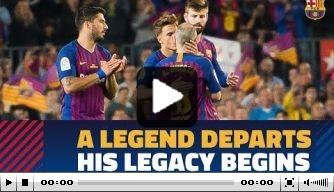 Video: Iniesta krijgt prachtige publiekswissel bij Barcelona