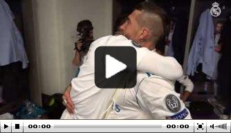 Video: feest in kleedkamer Real na winst op Liverpool