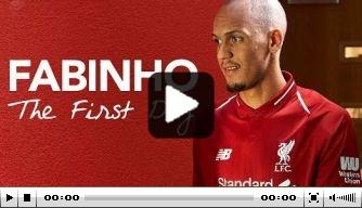 Video: de eerste dag van aanwinst Fabinho bij Liverpool