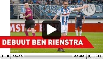 Video: Rienstra wil steeds meer spelen bij Heerenveen