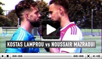 Video: Mazraoui en Lamprou doen Skill Games tegen elkaar