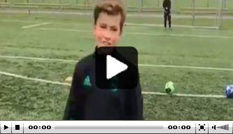 Video: Rafael van der Vaart traint zijn zoontje Damian