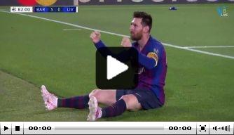 Messi's vrije trap verkozen tot mooiste goal Champions League