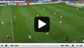Video: Werder op voorsprong na prachtige pass Klaassen