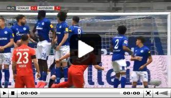 Video: Löwen zet Augsburg op voorsprong met heerlijke vrije trap