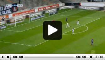 Video: Osnabrück-speler mist kans voor open doel