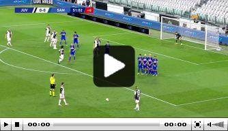 Video: Ronaldo zet Juve voor met ingestudeerde vrije trap