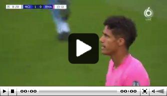 Video: Varane gruwelijk de mist in bij treffer Sterling