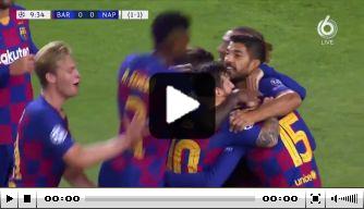 Video: Lenglet zet Barcelona voor met dubieuze treffer