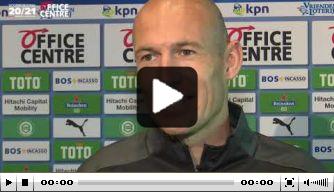 Video: basisklant Robben reageert op doelpunt in oefenduel