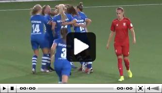 Video: PEC Zwolle-speelster Asbroek maakt heerlijke goal