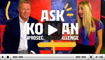 Video: Barcelona daagt Koeman uit voor een speciale challenge