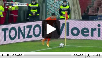 Video: De Jong kopt Nederland bijna op voorsprong in Zenica