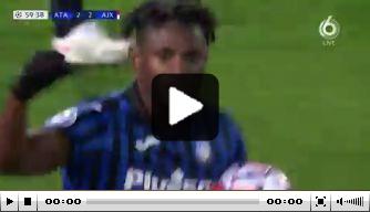 Video: Zapata knalt Atalanta op gelijke hoogte tegen Ajax