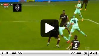 Video: Lazaro scoort met heerlijke scorpion kick voor Gladbach
