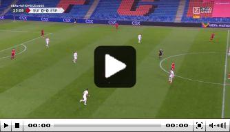 Video: Voorsprong Zwitserland na fraaie goal tegen Spanje