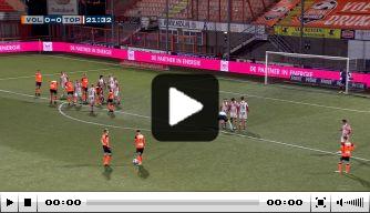 Video: FC Volendam op voorsprong dankzij prachtige vrije trap