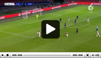 Video: Gravenberch zet Ajax met wereldgoal op voorsprong