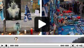 Video: fans verzamelen zich voor afscheid van Maradona