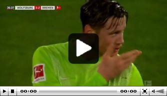 Video: Weghorst schiet Wolfsburg in doelpuntrijk duel weer voor