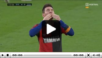 Messi scoort en brengt prachtig eerbetoon aan Maradona