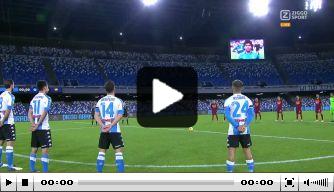 Napoli-spelers eren Diego Maradona met speciaal tenue
