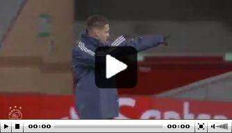 Video: Antony schiet met scherp op Anfield en wil het weten ook
