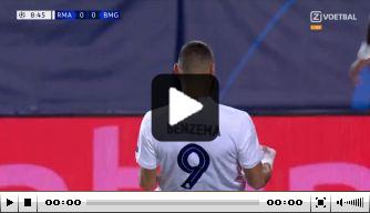 Video: Benzema kopt Real Madrid op belangrijke voorsprong
