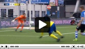 Video: Kallon maakt struikelend bizar doelpunt voor Cambuur