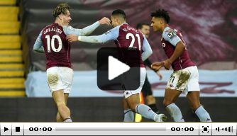 Video: El Ghazi maakt Aston Villa's mooiste goal van december
