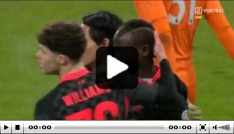 Video: Mané kopt Liverpool bij 'Aston Villa B' snel op voorsprong
