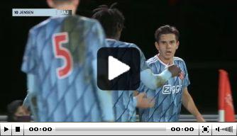 Video: Jensen eindstation van fraaie aanval van Jong Ajax