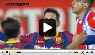 Video: Messi maakt tweede heerlijke goal van de avond